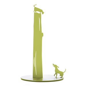Dog vs. Cat - avocado green