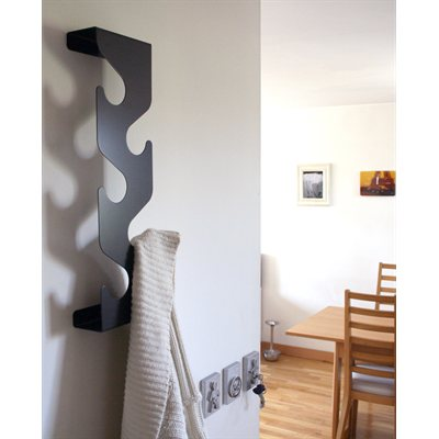 Wave coat rack-Black
