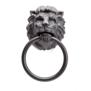 Lion's Head Towel Holder-Black
